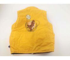 6094dd6dbce9 Tip Obojstranná vesta- tmavomodro - žltá