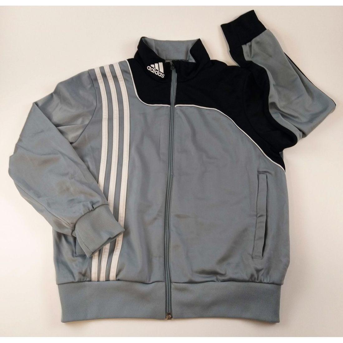 Sivo čierno biela športová bunda ADIDAS d579879986f